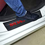 SENYAZON Car Entry Guard Sticker for Chevrolet Silverado Decoration Scuff Plate Carbon Fibre Vinyl Sticker Car Styling Accessories (red)