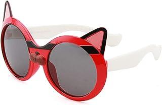 GWQDJ - Gafas De Sol Polarizadas para Niños, 100% De Gafas a Prueba De UV Durante 3 a 12 Años, Marco De Silicona Flexible, Lente TAC