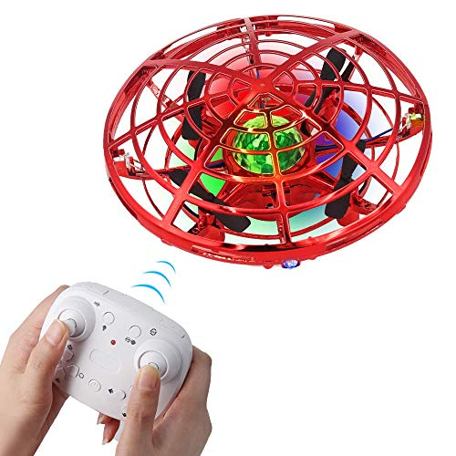 Mini Drone for Kids and Adults, BIBIELF Remote Control Drone with 360°Rotating, Easy Flying Toy Gifts for Boys and Girls Indoor Outdoor Activities (Red)