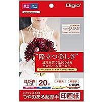 Digio2 印画紙 つやのある超厚手 はがきサイズ 20枚 42916