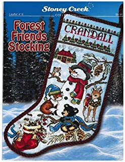 Forest Friends Stocking (Leaflet 418) Cross Stitch Chart and Free Embellishment