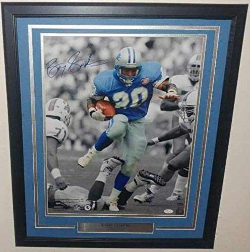 Barry Sanders Detroit Lions NFL Framed 8x10 Photograph Spotlight