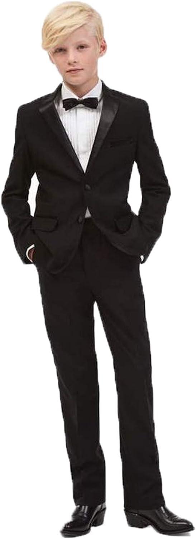P&G Boys' NotchLapel Suit Two Pieces Two Buttons Modern Tuxedo Dresswear Set
