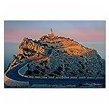 IUYBHRYI Faro de España, Paisaje de montaña de Mallorca, póster, Impresiones, imágenes, Impresiones en Lienzo, Arte de Pared, Sala de Estar, Impresiones en lienzo-60x90cm sin Marco