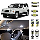 AUTOGINE 6 Piece CANBUS LED Interior Light Kit for Jeep Patriot 2007 2008 2009...