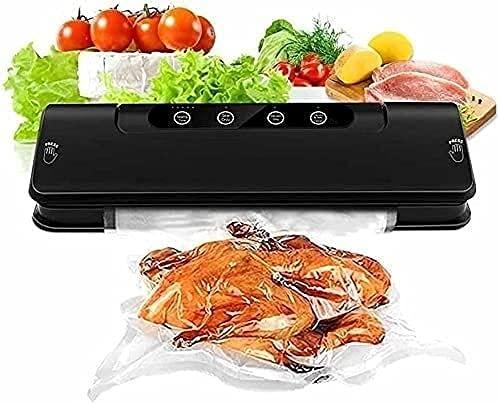 Macchina per il sigillante sottovuoto, sigillante per alimenti automatici per risparmio di cibo con kit di avviamento, modalità di alimentazione umida secca, facilità di pulizia, design compatto