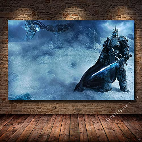 LGYJAL Pinturas en Lienzo Impresiones Póster Artístico Teldrassil Burning World of Warcraft Battle For Azeroth Juego Cuadros de Pared Decoración del hogar 50x70 cm U-979