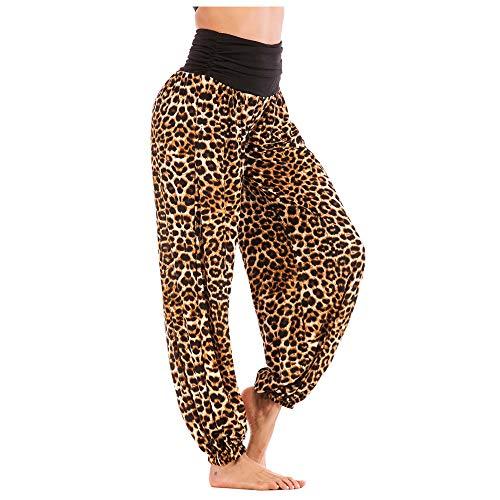 MOMOXI Hombres Mujeres Pantalones sueltos de yoga hippy sueltos Pantalones holgados Boho Aladdin Harem