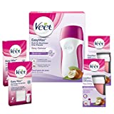 Veet EasyWax Roll-On - Cire Chaude avec bandes - Lot avec 1 Appareil Roll-on - 2...