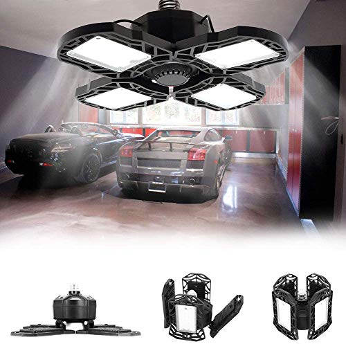 GTRBV Direct 150W LED Garage Licht met 4 Metalen Panelen Energiebesparing 90° Verstelbare Garage Licht met Lange levensduur LED Plafond Licht Overstroming Verlichting Garage Licht