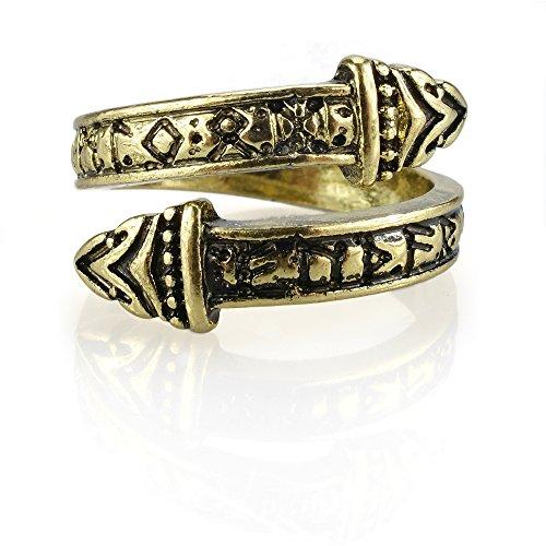 URBANTIMBER Wikinger Ring Nidhogg - Silber oder Bronze/Gold