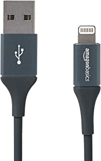 AmazonBasics Apple Certified USB A Cable with Lightning Connector, Premium Collection - 3-Foot, Gray