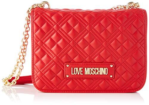 Love Moschino Precollezione ss24, Borsa a Spalla da Donna PU, New Shiny Quilted, Rosso, Normal