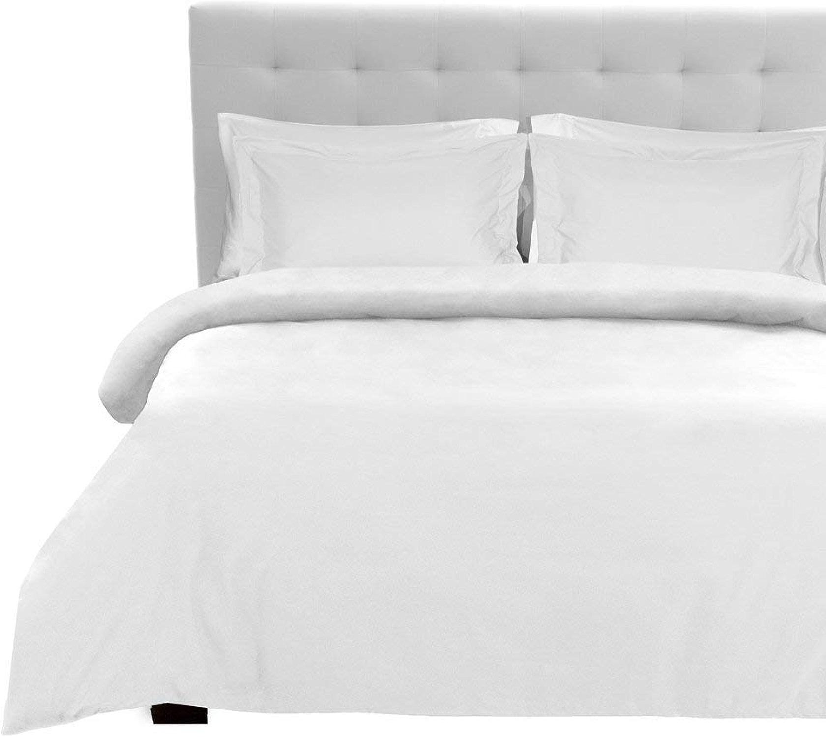 Tula Linen 400Fils 5pcs de lit avec Drap-Housse (Blanc uni, UK petit Single Long (0,6m 15,2cm X 1,8m 15,2cm), Format de Poche 20cm) 100% Coton égypcravaten de qualité Premium