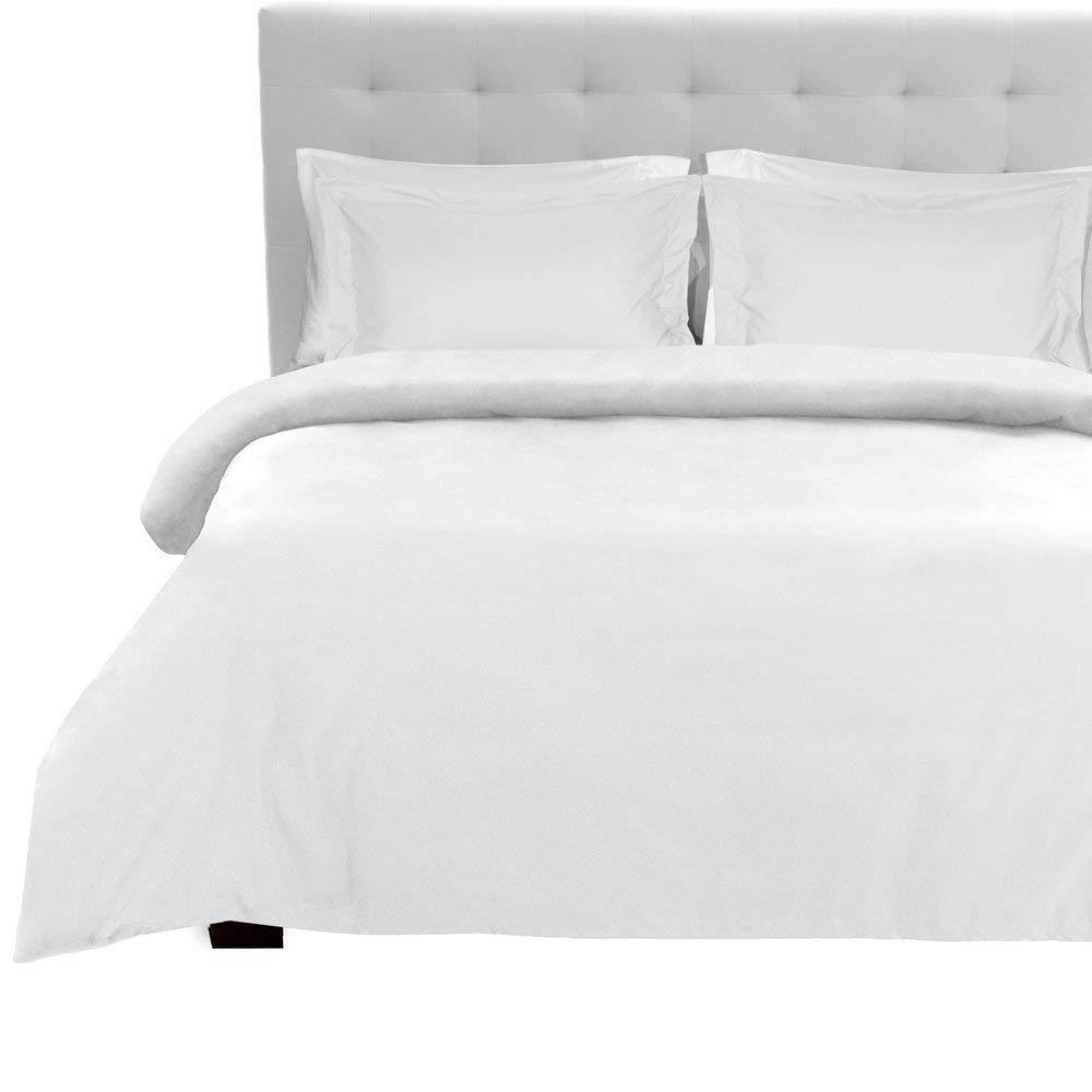 Tula Linen 1100 Hilos 4 Piezas Juego de sábanas 100% algodón Egipcio Premium Calidad (Blanco sólido, Individual Largo (3ft x 6 ft 6), Pocket Size 42 cm): Amazon.es: Hogar