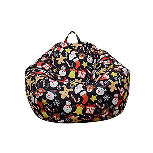 iSayhong Puf de silla para sofá perezoso, suave, sin relleno, decoración del hogar, sofá, gran tumbona perezosa para adultos y niños, Negro a, Talla única