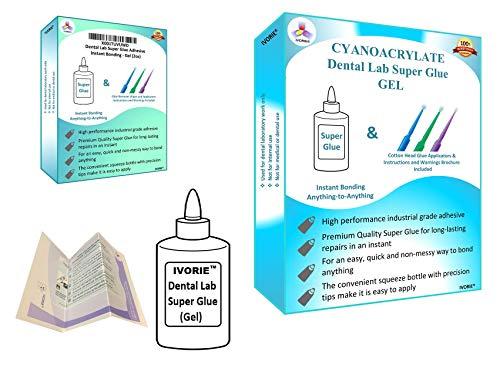 Dental Lab Super Glue Adhesive Instant Bonding - Gel (2oz)