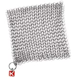 "Knapp Made CM Scrubber 6"" Small Ring Chainmail Scrubber - For Cast Iron, Stainless Steel, Hard Anodized Cookware and Other Pots & Pans"