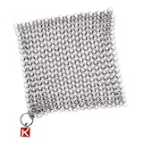 Knapp Made CM Scrubber - Stainless Steel Chain Mail Scrubber for Cast Iron Cookware by Knapp Made