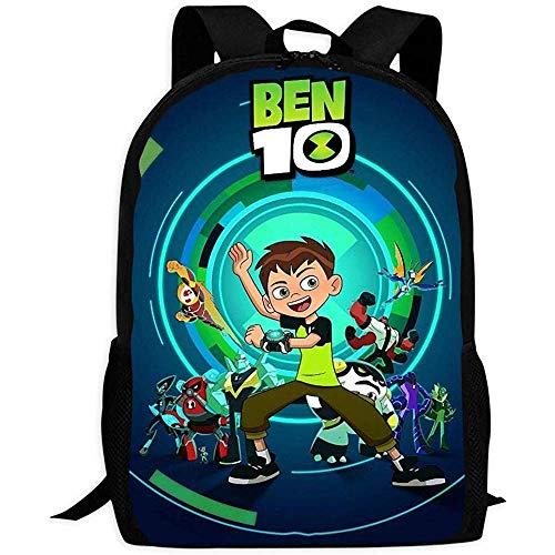 hengshiqi Zaino Backpack, Backpack Men's,B-En 10 Backpack Fashion School Bag for Adult