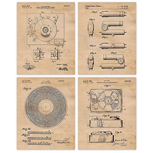 Vintage Vinyl Record Player Poster