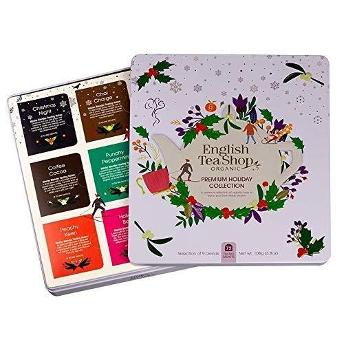 English Tea Shop Premium Holiday Collection Selección de té orgánico y tés de hierbas con sabores festivos hechos en Sri Lanka - 1 x 72 bolsitas de té (108 gramos)