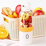 Licuadora exprimidor de 500 ml, exprimidor eléctrico portátil de frutas, mini taza portátil de carga USB, taza de mezcla, exprimidor de licuadora (naranja)