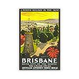 yhyxll Brisbane Australien Tourismus City View Poster