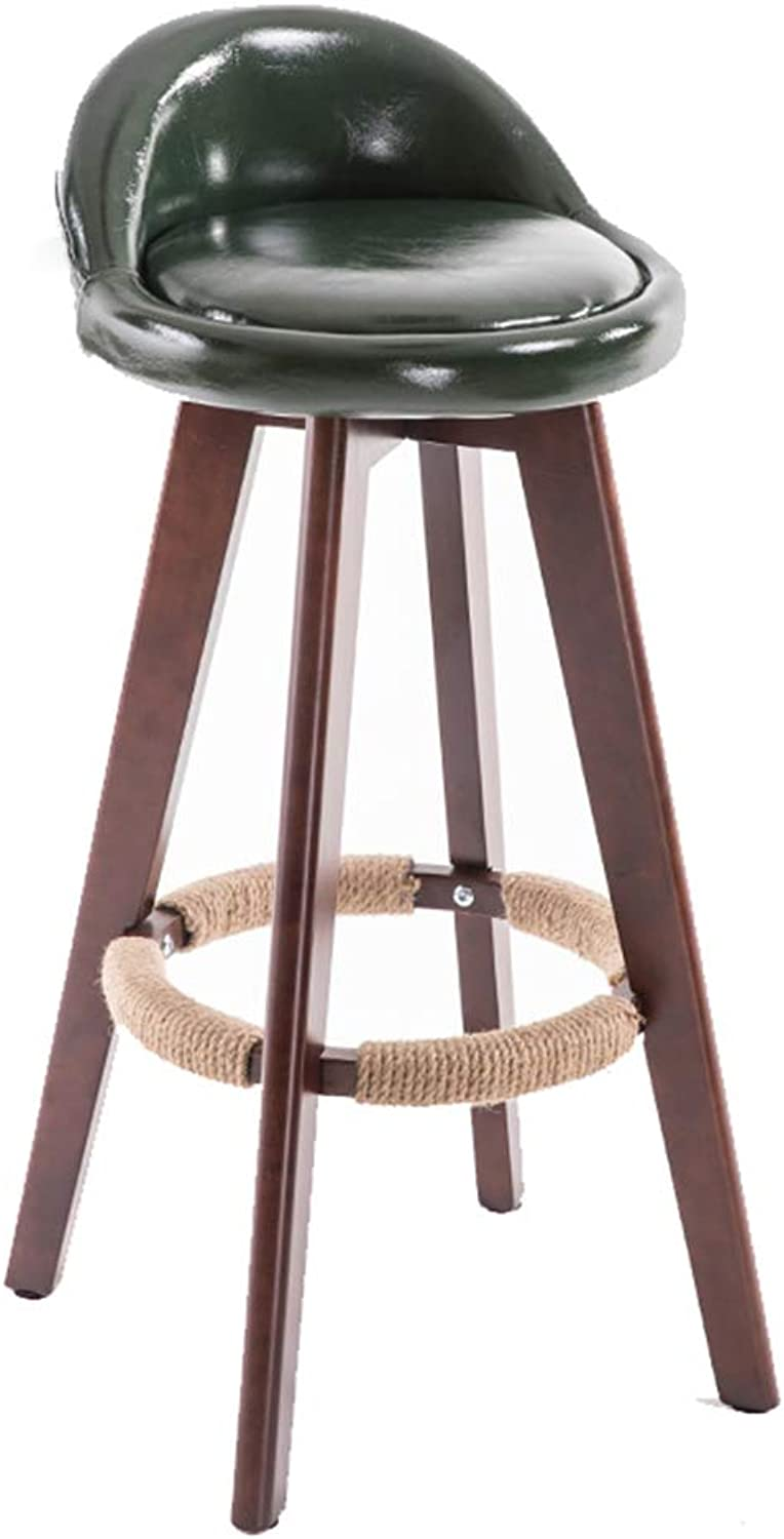 Cafe High Stools Breakfast Dining Chairs PU Leather Barstools High Elasticity Bar Stools Indoor Bar Chairs Stool for Counter Home Indoor Balcony