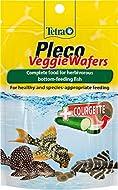 Tetra Pleco Veggie Wafers Fish Food, Complete Fish Food for Herbivorous Bottom-Feeding Fish, 42 g