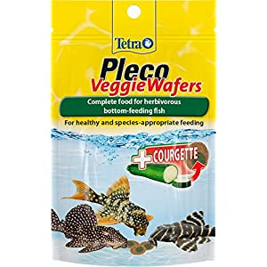 Tetra Pleco Veggie Wafers Fish Food, Complete Fish Food for Herbivorous Bottom-Feeding Fish, 42 g