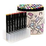 TOUCHFIVE Marker Set 80er Sets Buntstifte Marker Stifte Schwarz Stifte mit Tasche (Bauentwurf)
