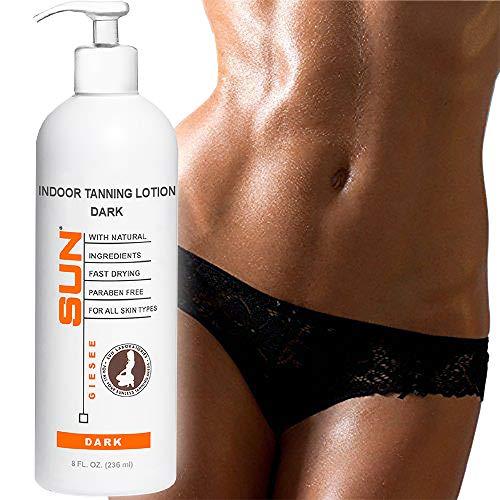 Sun Laboratories Self Tanning Lotion 8 oz + Mitt | Dark | Natural Self Tanner Sunless Bronzer (Packaging May Very)