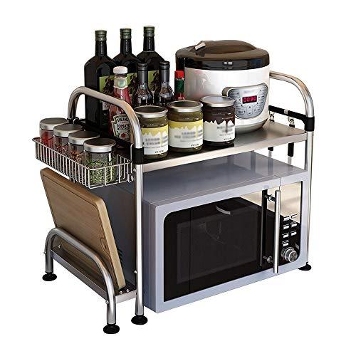 HUIYUAN RVS Rack Keuken Vloer Oven Rek Keuken Opslag Rek Enkele Laag Met Hangende Mand