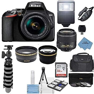 Nikon D3500 24.2MP DSLR Camera + AF-P DX 18-55mm VR NIKKOR Lens Kit + Accessory Bundle + Extreme Electronics Cloth from Nikon Intl