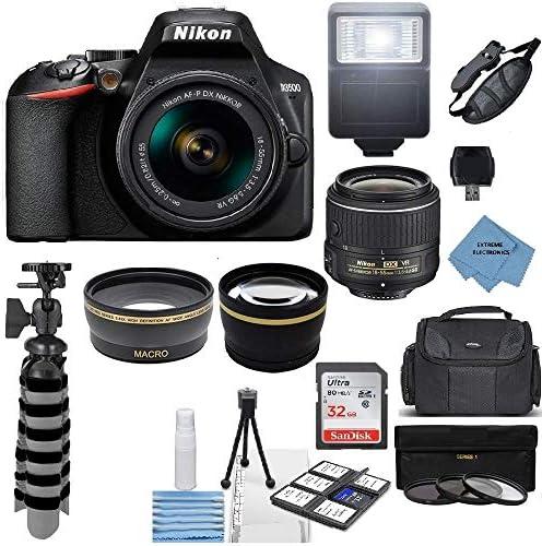 Nikon D3500 24 2MP DSLR Camera AF P DX 18 55mm VR NIKKOR Lens Kit Accessory Bundle Extreme Electronics product image