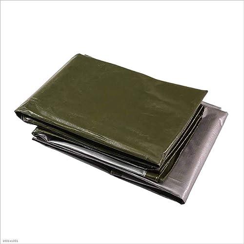 SZ JIAOJIAO étanche Tissu épaississement De Bache De Prougeection en Plastique Tissé Polyéthylène PE Vert Foncé Bache 180G M2,6M×8M