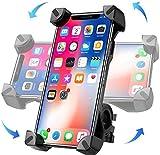 Moogambi Soporte móvil Bicicleta y Motocicleta con rotación 360º sujeción Universal Compatible con Carrito bebé Scooter Patinete eléctrico Manual GPS antivibración móviles de 4'-7'
