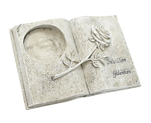 DARO DEKO Trauer-Deko Buch mit Kerzenhalter - in stillem Gedenken