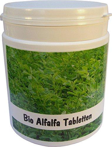 SANOS Bio Alfalfa Tabletten 500g / 1250 Tabletten aus eigenem Anbau frisch vom Bodensee