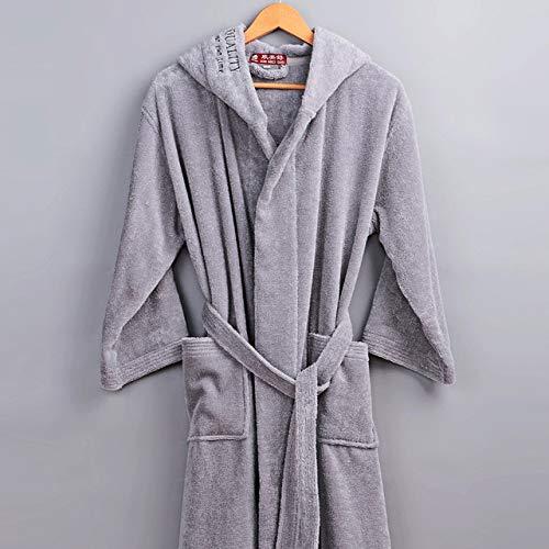 KTUCN Wintermantel für Herren, Bademantel aus Baumwolle, dick und warm,...