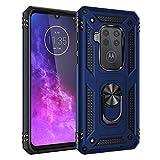 Jielangxin Keji - Funda para Motorola One Zoom, rotación de 360 grados, función atril, para Motorola Moto One Zoom XT2010-1/Moto One Pro, color azul