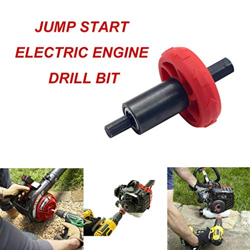 LCLrute Elektromotor Bohrer Adapter, Starthilfe für Troy-Bilt-Stopfenknopf,Rasenmäher Anlasser Diesel Starter Adapter Bohreradapter Elektrostartbohrer Adapter (Mehrfarbig)