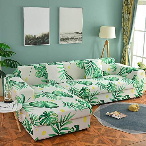WXQY Sala de Estar Cubierta de sofá Floral elástico Estiramiento sección elástica sillón de Esquina Chaise Longue Funda de sofá A5 4 plazas