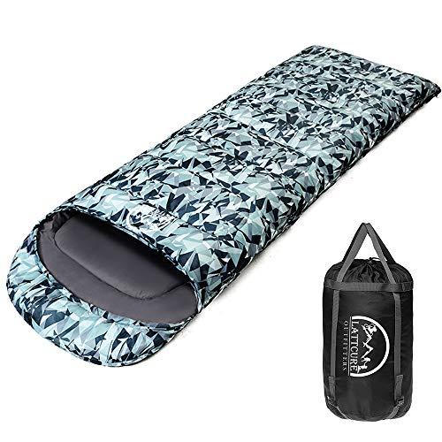 LATTCURE Saco de Dormir Invierno para Adultos Saco de Dormir Profesional al Aire Libre Seque el Frío A Prueba de Agua para Acampar Excursión Senderismo Compacto Grueso Caliente Sleeping Bag (Verdura)