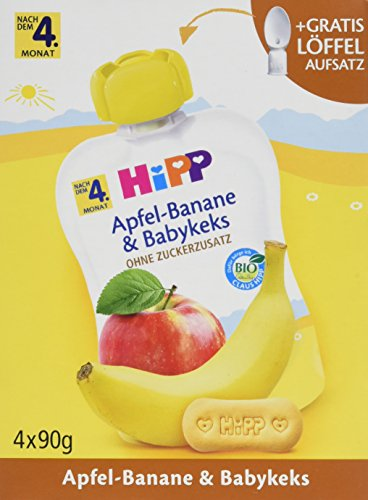Hipp Apfel-Banane und Babykeks, 4er Pack (4 x 360 g)