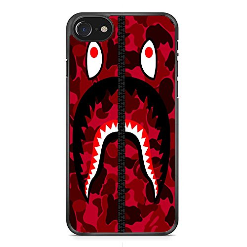Bape tiburón del Ejército Rojo iPhone 7Case Black