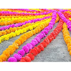 20 pcs lot Real Look Artificial Garlands Marigold Flower Garland Christmas Wedding Party Decor Flowers Mix Color Home…