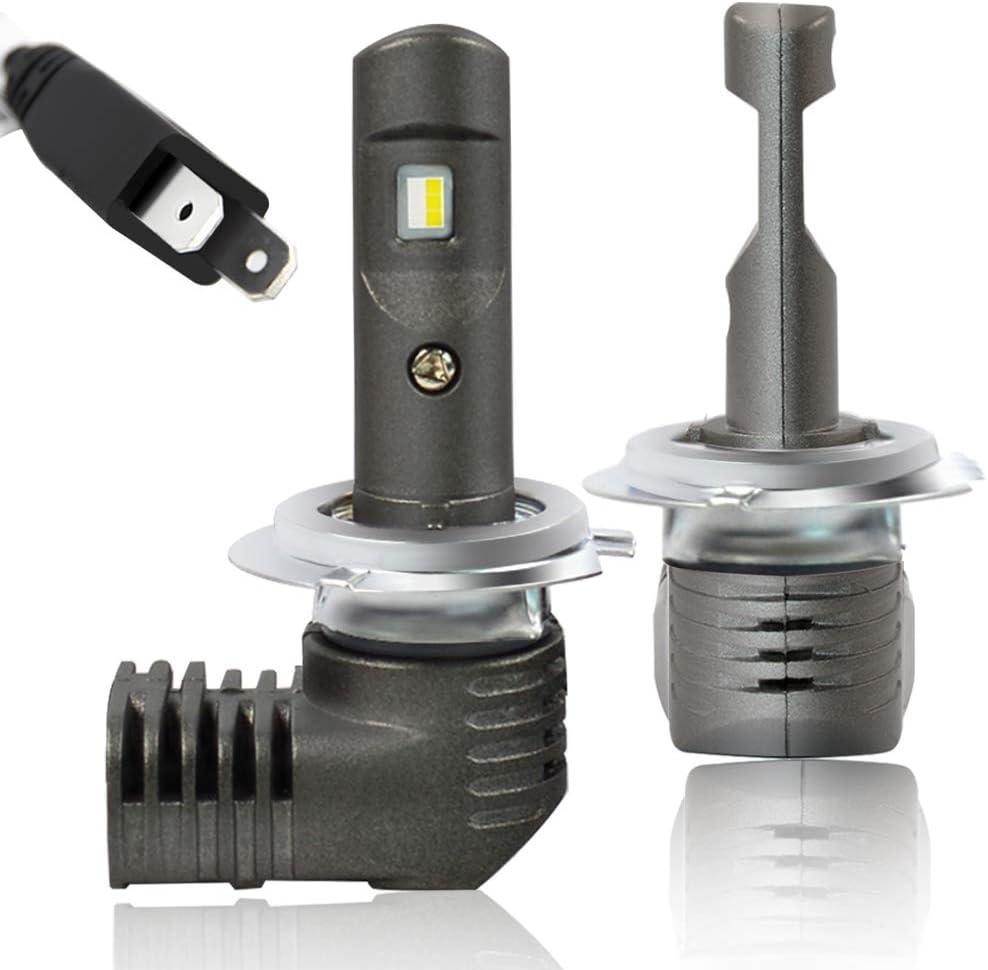 NSLUMO Max 64% OFF H7 LED Headlight Bulbs 6000K 5600Lumens H Tulsa Mall 1:1 Design H7LL