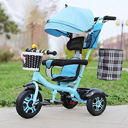 GST trikes Children's Tricycle, High Carbon Steel 3-6 Years Old Children's Rotary Seat, Push Pedicab, Men And Women's Lightweight Children's Bicycle, Bike Children's Tricycle, Three-Wheeler,1